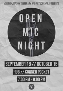 Volition Open Mic Night Ad